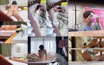 【素人】ショートカットのカワイ子ちゃんの家庭内のオフ姿を隠し撮り→寝ている隙に睡眠かん!