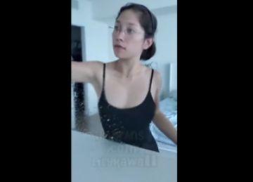 【エロ動画 素人】 TIKTOKに投稿された巨乳美女のトリック映像が話題にwww