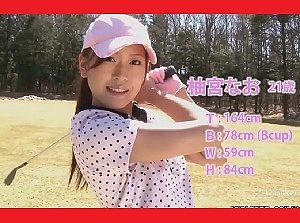 【無】 全裸で打つ美女ゴルファーたち!見事なホールインワン♪