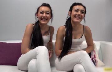 【無修正 素人 高画質】 双子のパイパン美女とセクロスするとこんな感じですwww