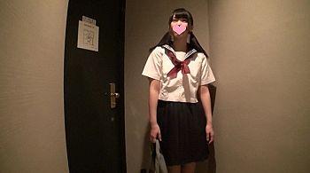 【エロ動画 素人】 経験人数一人のピュアな清楚系女子校生と円光中出しハメ撮りww