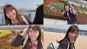 【エロ動画 素人】 18歳の正統派美少女のマシュマロ巨乳をモミモミしながら中出し生ハメ撮り