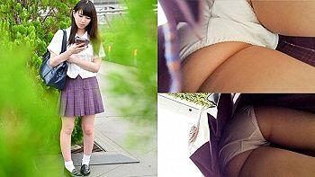【エロ動画 素人】 駅周辺を散策していたらカワイイ制服女子校生を見つけたのでストーキング&セクロス