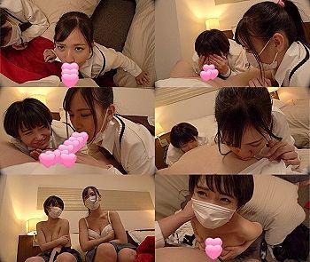 【エロ動画 素人】 二人とも激カワな美少女!!!!!!!!! エッチに好奇心旺盛な女子○生たちと3Pセクロス