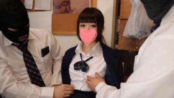【無修正 素人 高画質】 都立商業科のクラスメイトでふわっとしたM系制服美少女とハメ撮り