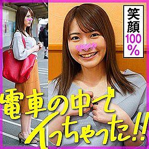 【エロ動画 素人】 電車内の痴●プレイでメチャクチャ興奮する21歳のアイドル級美女とハメ撮り