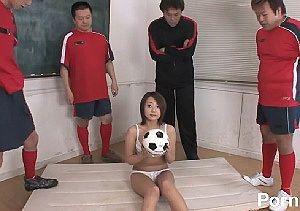 【無修正】 サッカー部のマネージャー輪〇。なでなでシコシコジャパン♪