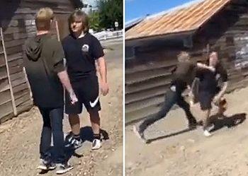 【動画あり】いじめっ子、いじめられっ子にボコボコにされ学校生活が終わる…
