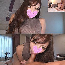 【エロ動画 素人】 超S級!!! 19歳の元J〇リフレが美人美容部員に転身した美女がパパ活で中出しセクロスwww