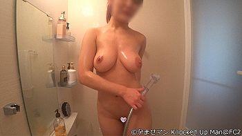 【エロ動画 個人撮影】 19歳でIカップの爆乳グラドルセフレと初心にかえって生まれたままの姿・全裸でローションヌルヌル生セックス!