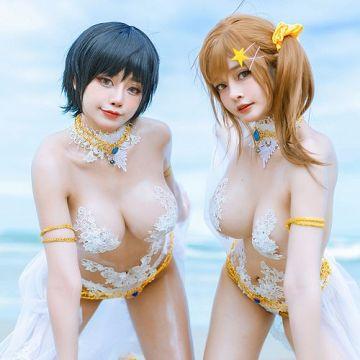 """エロレイヤー Azami「DOAXVV」オタはこういうの好きだろw 即射精ものエロ巨乳水着""""マティーニ""""で卑猥な挑発!画像"""