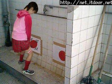 【画像】韓国の美少女JCが立ちション姿を公開wwwwww