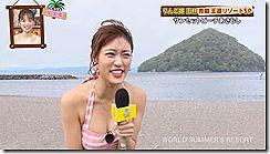 水着姿の王林のオッパイの谷間をちょこっと楽しめるセクシー画像www