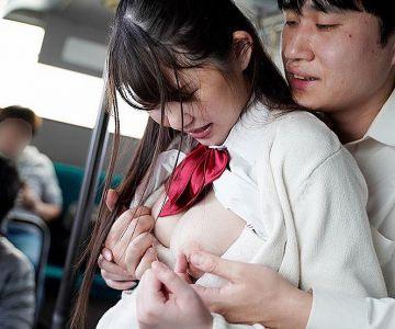 Gカップ巨乳に理性が壊れた教師、男子生徒、一般客、全員痴○で逃げ場無し!佐藤ゆか