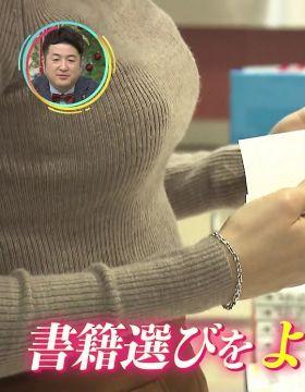 MBS野嶋紗己子アナ(24)の立ち読み中の横乳ドアップ