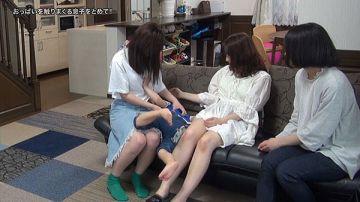【画像】ガキ、エッチなお姉さんのおっぱいを触りまくる