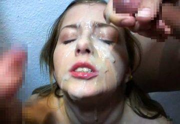 ‹無・洋物›金髪ロシア美女『アビゲイル・ジョンソン』が綺麗な顔に特濃ザーメンを何度も大量ぶっかけされる!