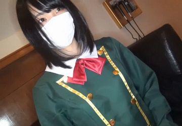 ‹無・個撮›欅坂46っぽい制服コスの黒髪シロウト娘がおっさんとラブホでハメ撮りセックス!