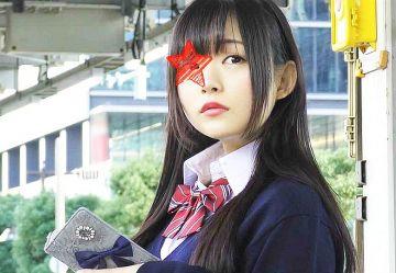 【電車チカン】桜井日奈子似の黒髪清楚JKを電車内で中出しレイプw