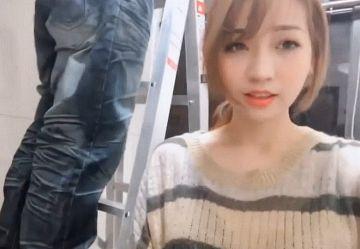 ‹無・個撮›めちゃカワ台湾ギャルがシャワー室の工事にやってきた男とヤッちゃう裏山けしからんプレイwww