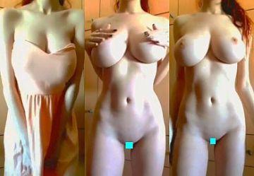‹TikTok›超絶プロポーションの中国人娘が投稿したパイパン&爆乳無●正動画が凄すぎ!