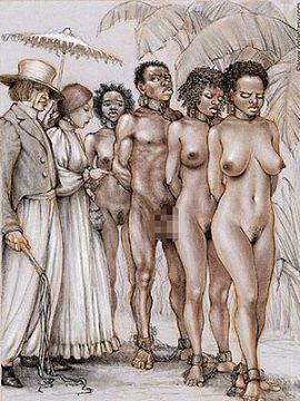 【画像】奴隷オークションとかいう性処理用の商品として陳列された女たちに興奮する奴wwww【人身売買】
