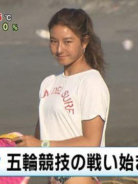 【画像あり】めざましTVでJKサーファー(18)が食い込んだデカ尻を披露する