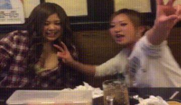 【GIF】泥酔したクソデブ女さん、居酒屋で乳首を出すwwww(画像あり)