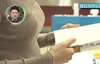 【画像】コロナ禍でもボインタッチしたくなるお正月に放送された女子アナのニット巨乳!