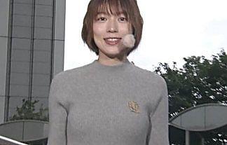 【画像】めざまし・阿部華也子のニット巨乳おっぱいの時期になってきたwwww