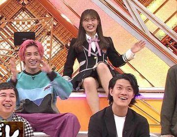 NMB48渋谷凪咲、パンチラ!パンティーが股間に食い込んでるのが丸見え