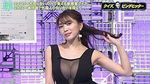 森咲智美(28)、TVでおっぱいポロリ、ニップレスはみ出し放送事故wwwww