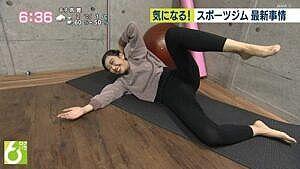 庭木櫻子アナ(28)、スパッツ大開脚、ブラモロ胸チラエロすぎ!!
