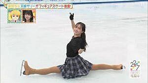 美人声優、天城サリー、開脚フィギュアスケートがエロ可愛すぎた件!!