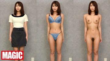 着衣、脱衣、全裸、比較鑑賞!巨乳も貧乳も陰毛もパイパンも視姦し放題なノーガードフルヌード