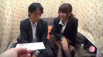 【桜木郁】男上司と女部下でセックスしてみませんかナンパ!酔ってエッチになって上司に跨って腰を振りながら絶頂しちゃう可愛い部下