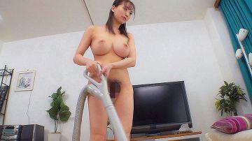 【鈴木真夕】自宅では全裸で過ごすGカップ美人奥様!極上ボディを抱いて貰えないセックスレスに耐えかねてAVで他人棒にイキまくる