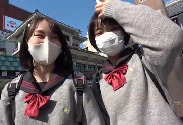 """【素人】『ある""""企画""""に参加したら東京旅行プレゼント!』に応募した田舎JKさん、マジックミラー号に案内されてしまうwww"""