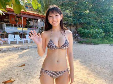 沢口愛華の勃起乳房