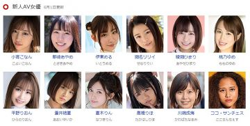6月デビューの新人AV女優一覧です。