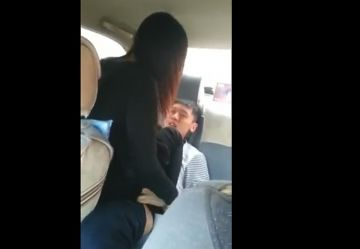 【個人撮影】彼氏が撮影したガチおねショタ!中坊男子と自分の彼女を車内SEXさせた一部始終