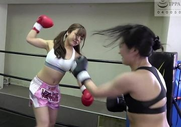 【岬あずさVS神納花】AVなのにエロなし!?人気女優2人が失神するまで本気で殴り合う『悶絶ボクシング』