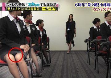 「スカッとジャパン」でCAのパンツが完全に見えてしまう放送事故wwwwwww