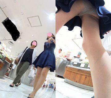 【逆さ撮り】ミニスカ女子のスカートの中がどれだけ狙われてるかよく分かる逆さ撮りパンチラ画像
