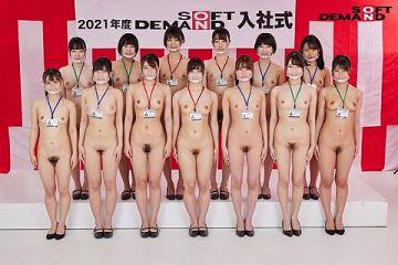 今年もSODの女子新入社員による全裸入社式が開催!12名のハメ撮りも撮影しちゃった