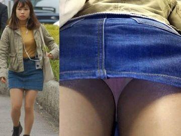 ミニスカートのローアングルパンチラエロ画像