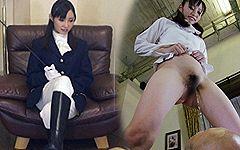 乗馬用パンツで顔面騎乗&聖水放水させられる男駄馬の気持ち…。お嬢様のアソコは特にしつこい。